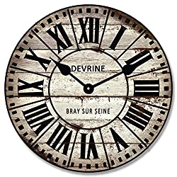 French Tower 2 Wall Clock, Available in 8 sizes, Most Sizes Ship 2-3 days, Whisper Quiet.