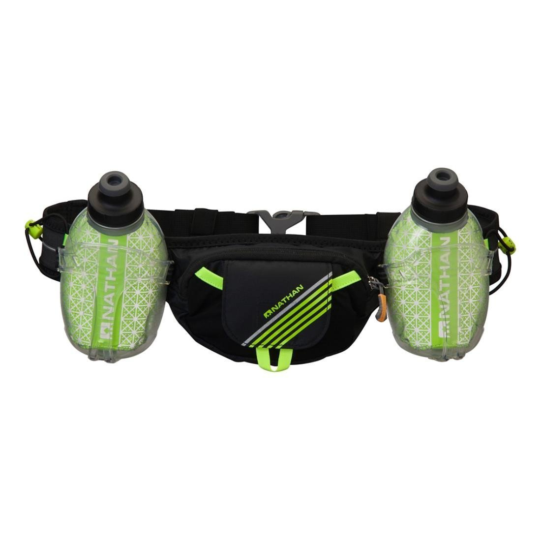 Nathan Trail Mix Plus Insulated Hydration Belt, Black/Safety Yellow, One Size