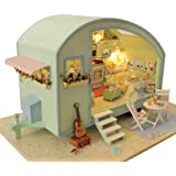 Rylai Wooden Handmade Dollhouse Miniature DIY Kit - Time Travel Series Dollhouses & Furniture( 1:18 Scale Dollhouse)