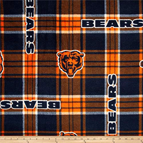 Chicago Bears Fabric - Fabric Traditions 0312745 NFL Chicago Bears