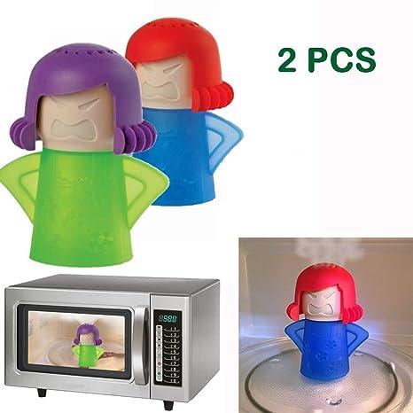 Amazon.com: Abnaok Limpiador de vapor de microondas, 2 ...