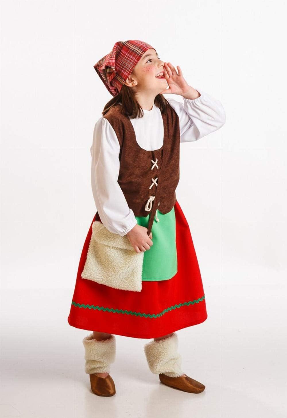 Disfraz de Pastora Asturiana infantil: Amazon.es: Juguetes y juegos