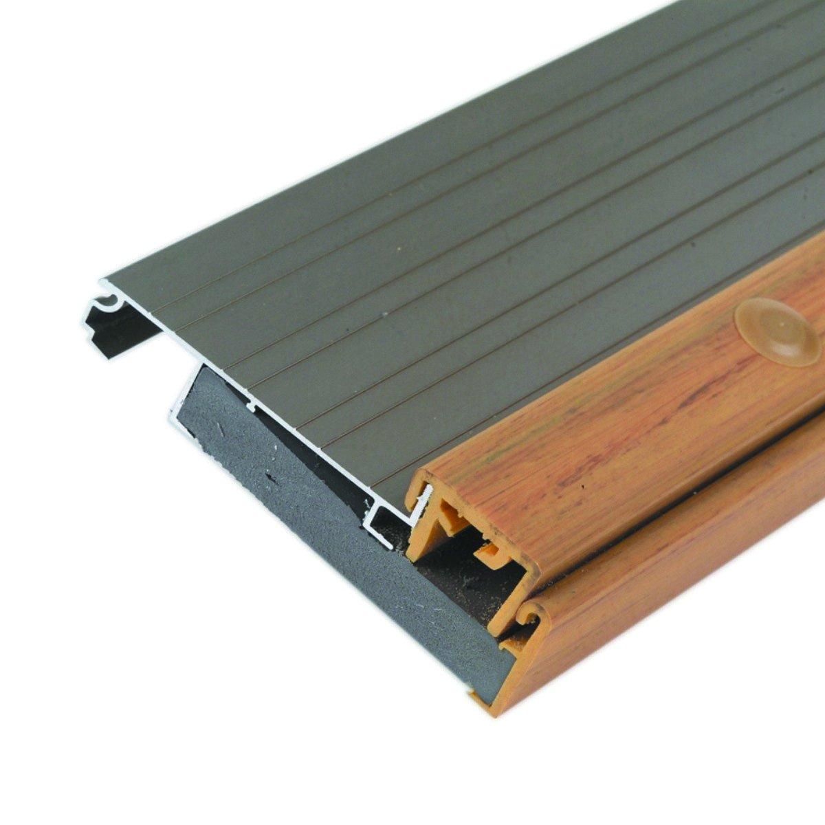 Adjustable 4-9/16'' Wide Thermal Break Aluminum Door Threshold - #99052