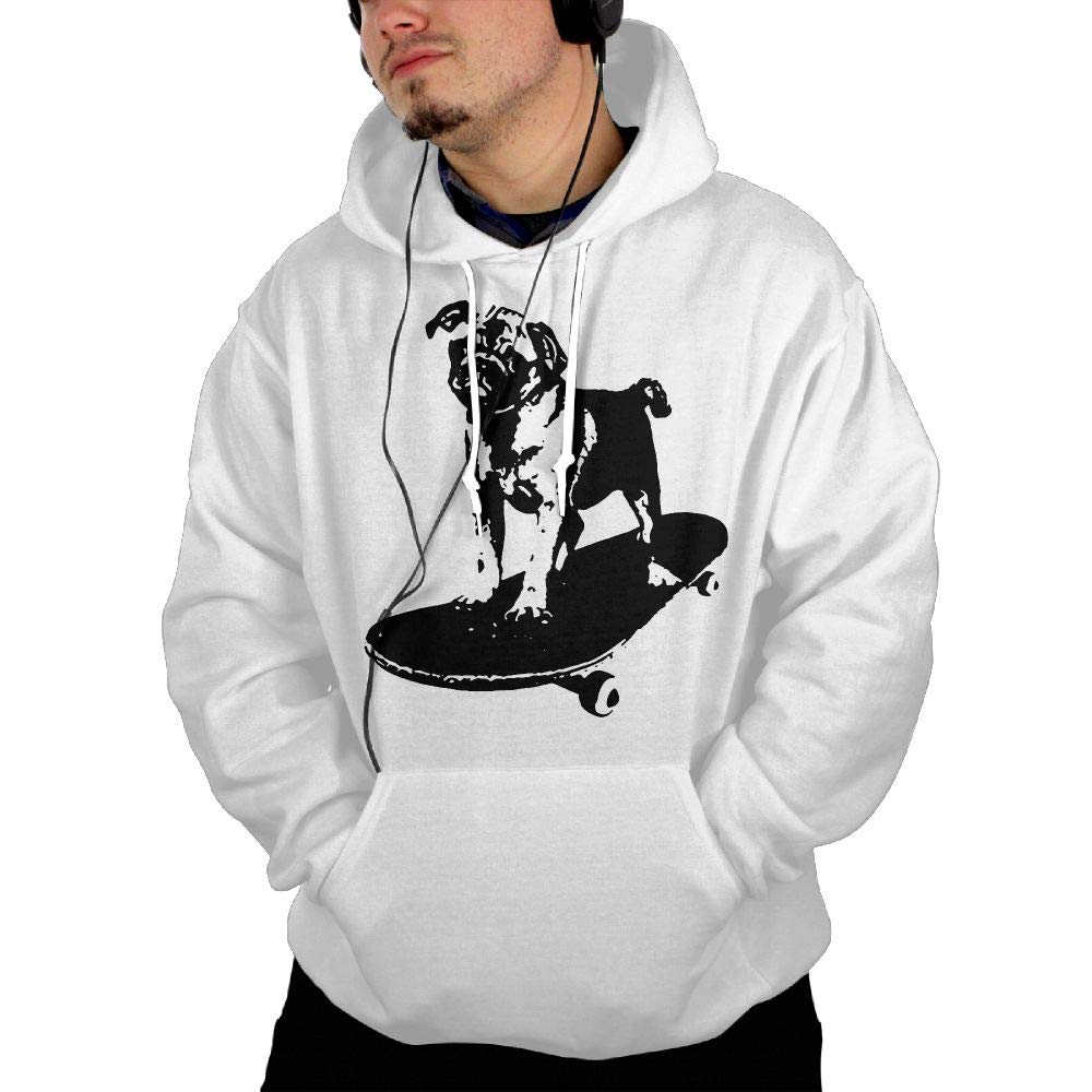 Skateboard Pug Puppy Dog Mens Hoodies New\r\n Garment with Kanga Pocket