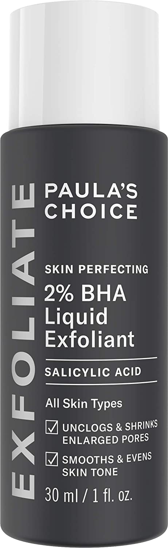 Paula's Choice-SKIN PERFECTING 2% BHA Liquid Salicylic Acid Exfoliant-Facial Exfoliant for Blackheads, Enlarged Pores, Wrinkles, Fine Lines-1-1oz. Bottle - Travel