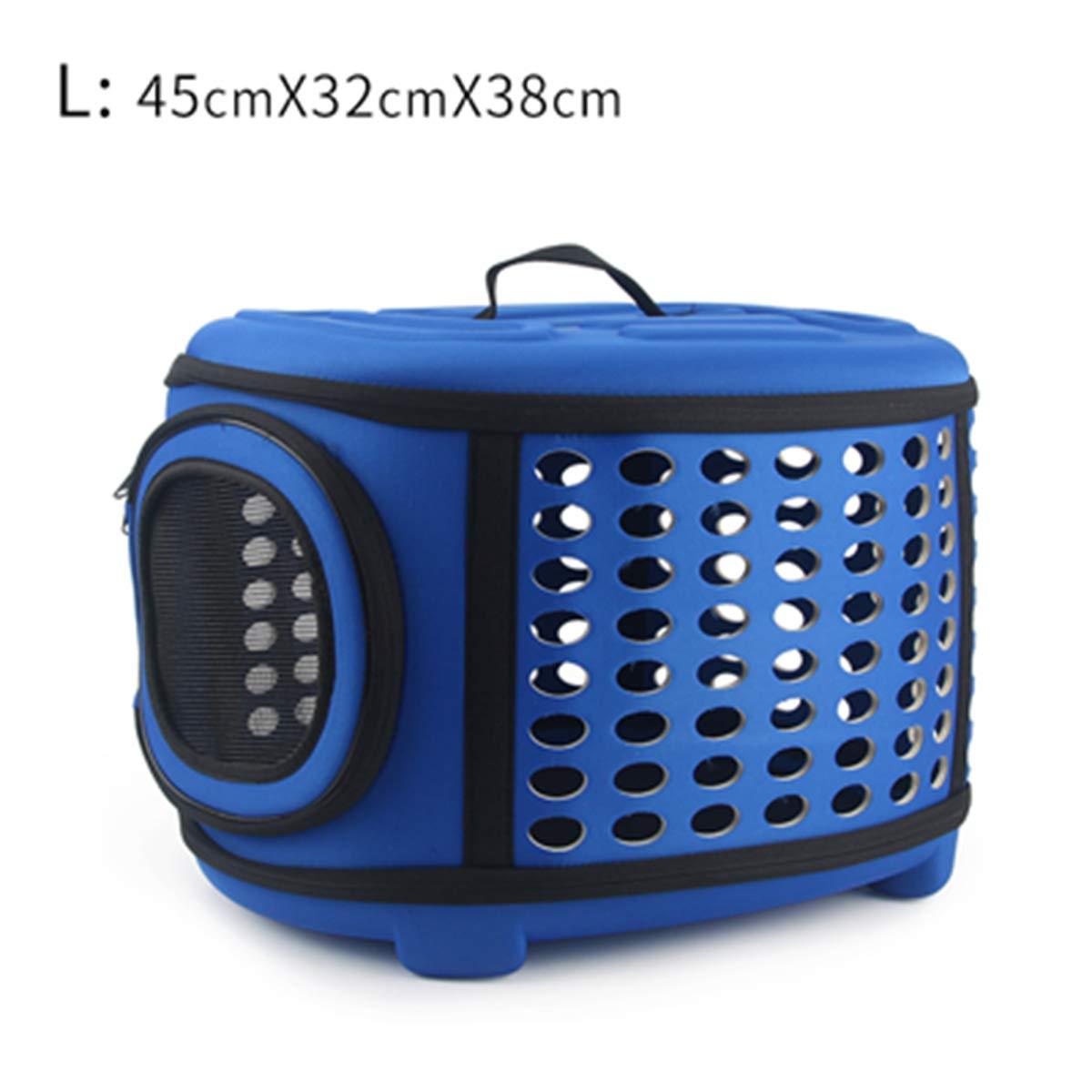 L bluee 45x32x38cm As Picture L bluee 45x32x38cm As Picture PETFDH Pure color Pet Carrier Bag Portable Outdoor Solid color Cat Foldable Dog Travel Pets Bag Puppy Carrying Shoulder Bags S M L L bluee 45x32x38cm
