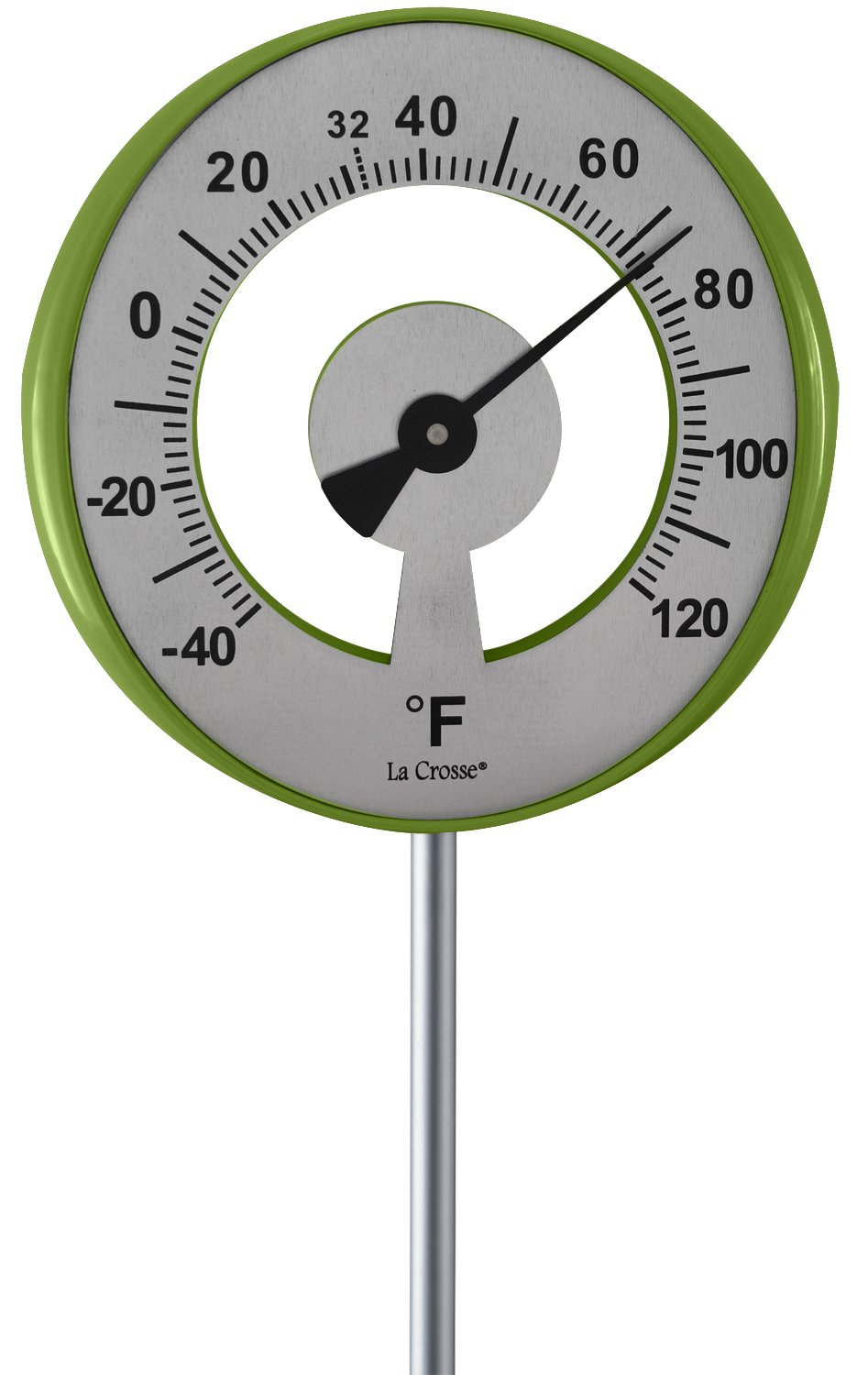 Lacrosse 101-1523 Lollipop Outdoor Garden Thermometer, Green