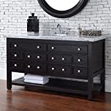 James Martin Vancouver 57.5 Inch Single Bathroom Vanity - Counter-Top Not Included
