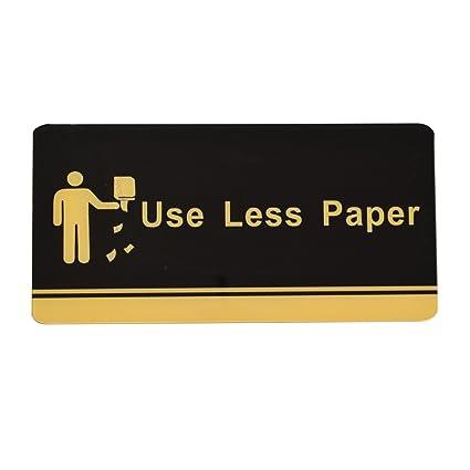 Acrílico Placa de oficina cartel placa pared montado en la ...