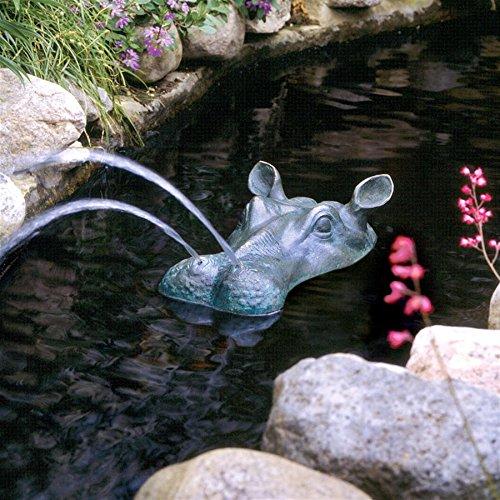 Design Toscano Spitting Hippo Head Cast Bronze Garden Statue