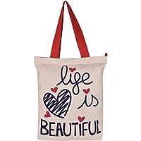 Pick Pocket White Tote Bag For Women's