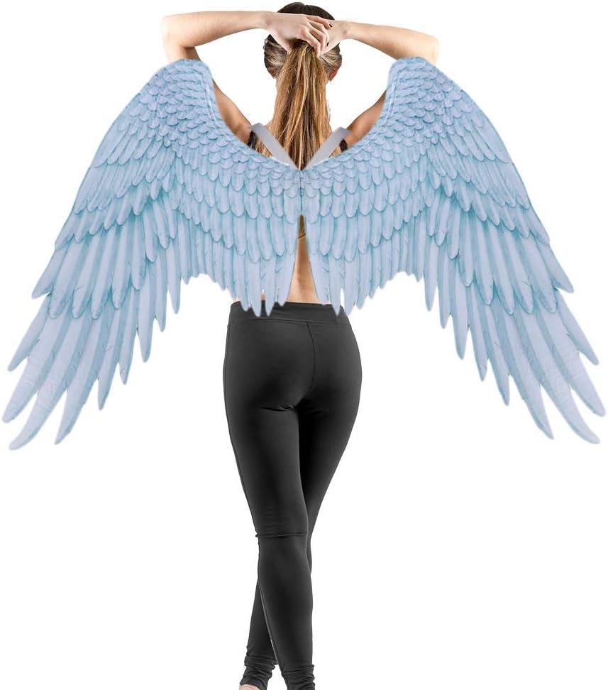 Accesorios de decoraci/ón de Halloween Alas de /ángel Encantadoras Traje de alas de Hadas Fiesta de Halloween Carnaval Cosplay Alas para Hombres Adultos Mujeres Ni/ños Ni/ños