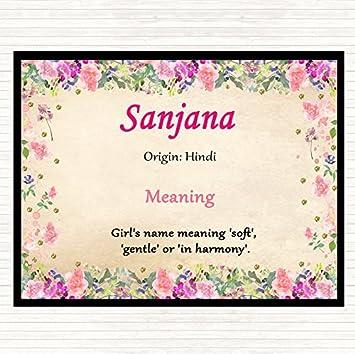 Sanjana Name Meaning Mouse Mat Pad Floral: Amazon co uk