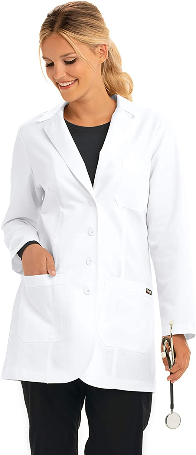 Grey's Anatomy Lab Coat for Women – Professional Mid-Length, Long Sleeve: Clothing