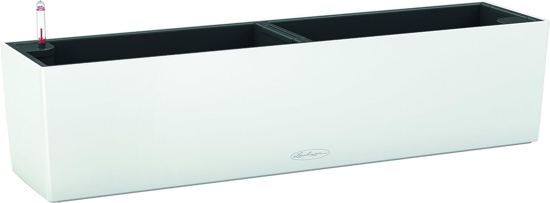 Lechuza 15680 - Kit completo maceta balconera, Blanco, 79 x 19 x 19