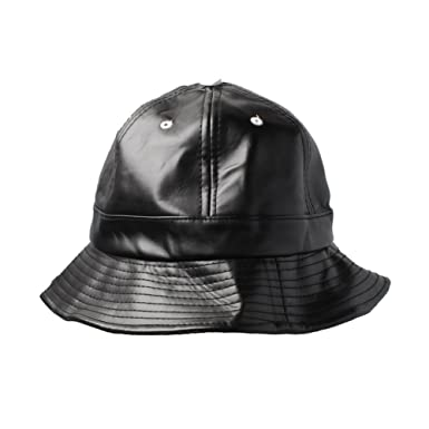 7ad70b9428ecf Accessoryo Black PVC Leather Bucket Hat  Amazon.co.uk  Clothing