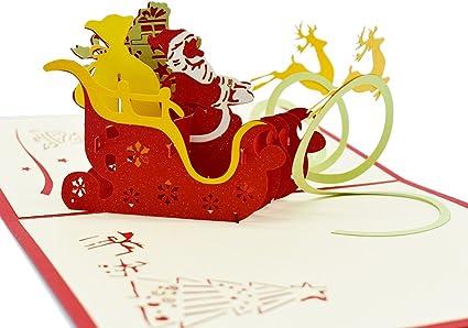 Karte der Grußkarte 3D gefaltete Karte Weihnachtsfeiertags-Karte