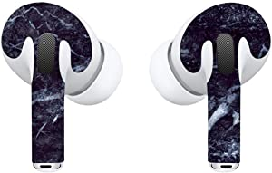 APSkins Skins for AirPods Pro - Printed Design. Protective Wraps Stickers to Cover Air Pods – Compatible Sticker Wrap Decal with Apple Air Pod Pro Accessories (Black Marble)