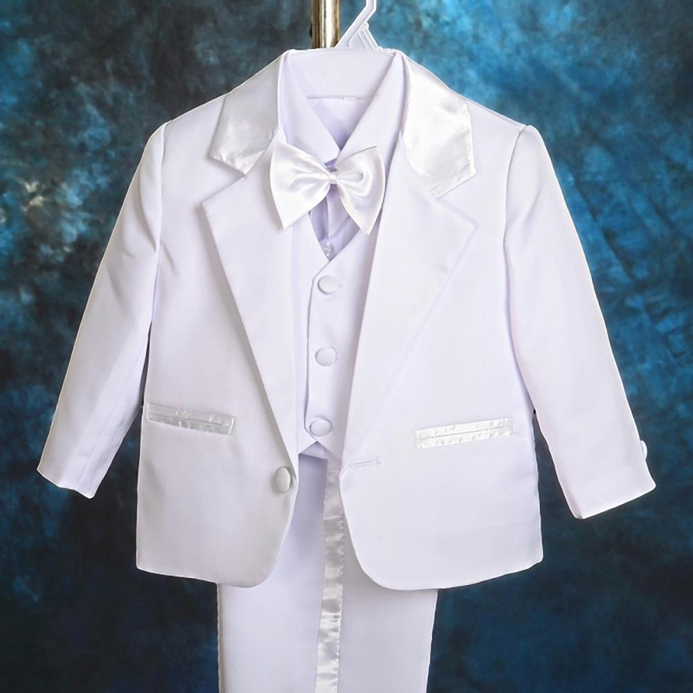 Lito Angels Baby Boy 5 Pcs Set Formal Tuxedo Suits No Tail Wedding Baptism Christening Outfits