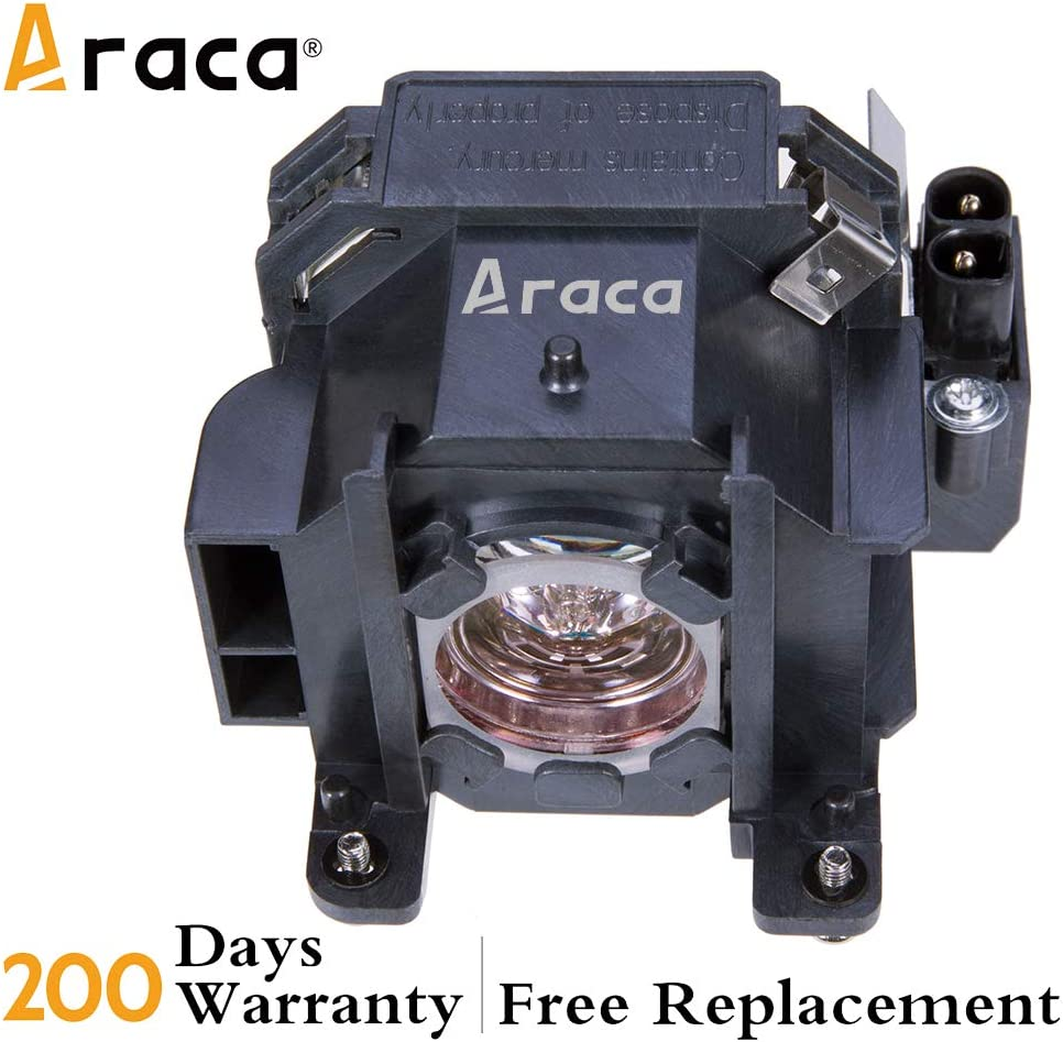 Araca ELPLP38 Projector Lamp with Housing for Epson EMP-1700 EMP-1705 EMP-1707 EMP-1710 //PowerLite 1505//1700 //1705//1710 //1715//1717 Replacement Projector Lamp