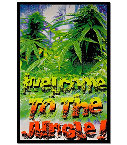 Welcome to the Jungle Blacklight Reactive Poster