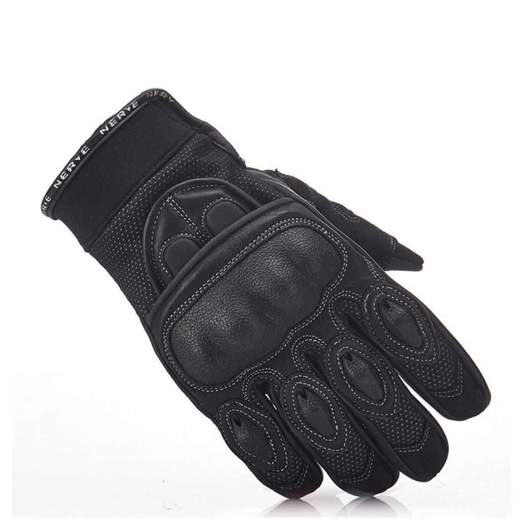 Zyy Handschuhe, Touch Screen Gummi harten Knöchel voller Finger und für Motorrad Radfahren Klettern Wandern Jagd
