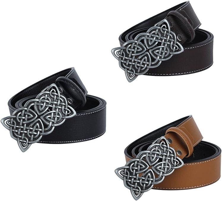 Vintage  Belt Strap Western Cowboy Rectangular Celtic Buckle Adjustable