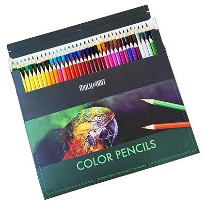 MyLifeUNIT 72 Premium Color juego de lápices para colorear ...