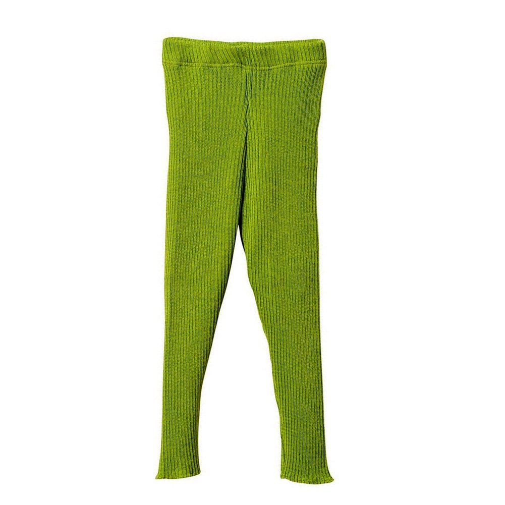 Disana Organic Merino Wool Knitted Leggings (2-3 Years, Green) by Disana