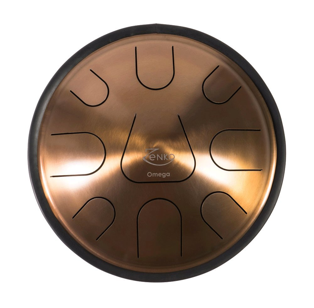 ZENKO OMEGA - Steel Tongue Drum - 9 tones - Intuitive musical instrument - Deluxe gig bag, support and mallets included