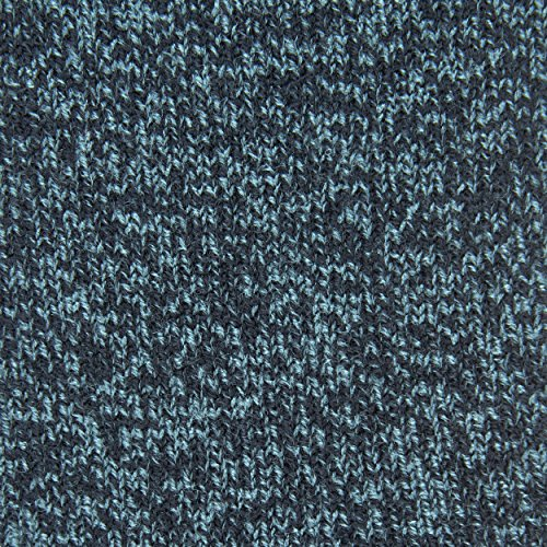 Cozy, Heated Thermal Socks for Men, Warm, Patterned Crew Socks, USA Men's Sock Sizes 6 – 12.5 - Hot Feet (Denim Heather/Dark Navy) by Hot Feet (Image #7)