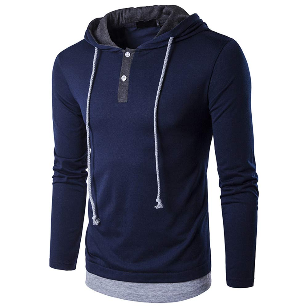 Photno Mens Hooded Sweatshirt,2018 Drawstring Tracksuits Pullover Tops Jackets Outwear Hoodies for Men