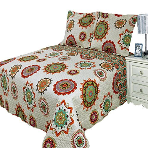 Julia Warm California King Size, Over-Sized Quilt 3pc set 110