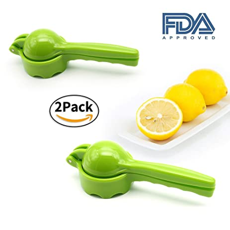 Amazon lemon lime squeezer manual citrus press juicer fda lemon lime squeezer manual citrus press juicer fda approved 2 packgreen sciox Image collections