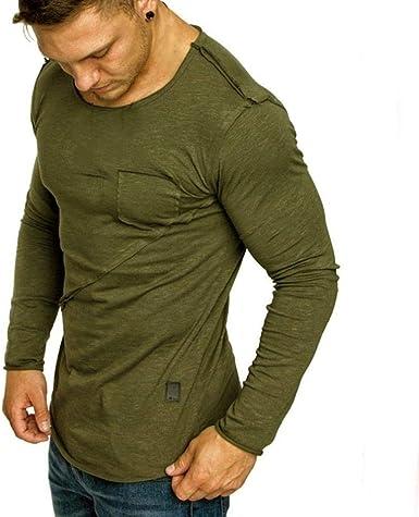 Largo Musculoso para Básico Hombres Sólido Sólido Simple ...