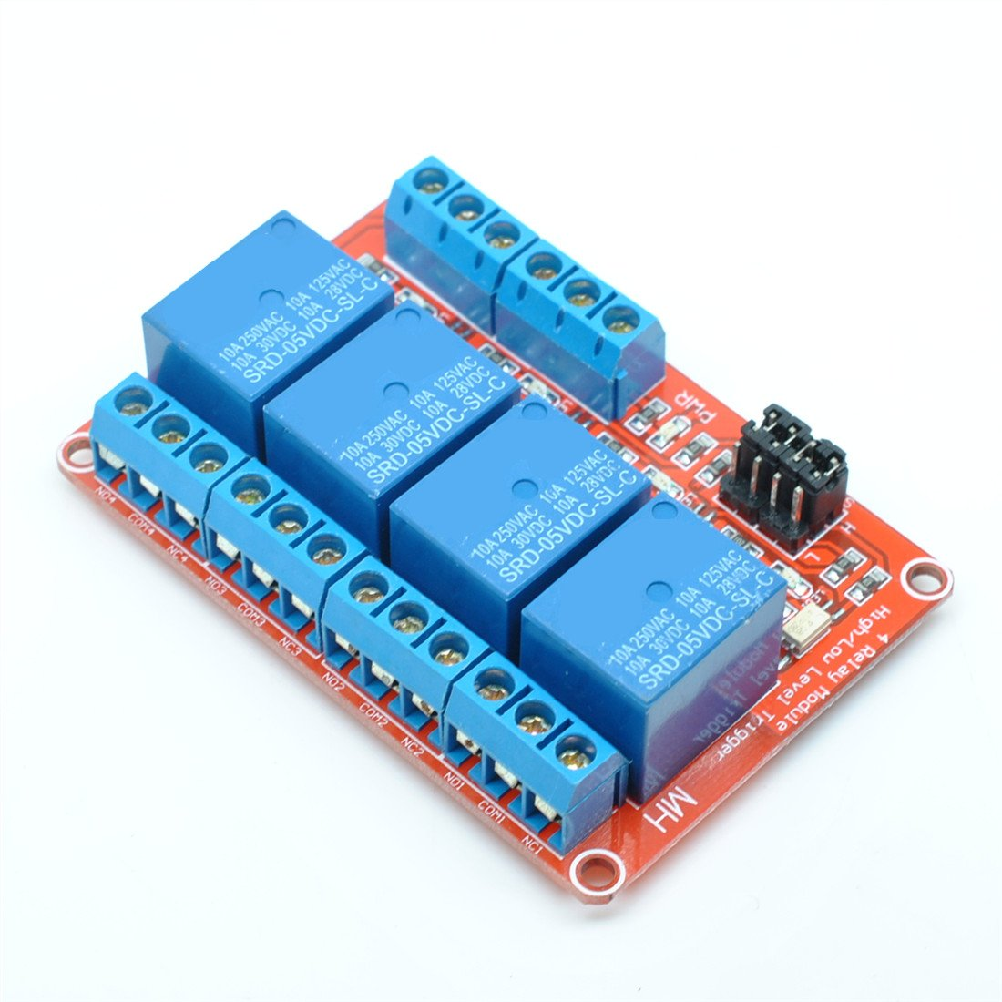 Willwin 4 Channel Relay Module Dc 12v With Optocoupler H L Level 8 Lpt Board Triger For Arduino Electronics