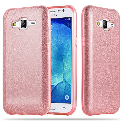 Cadorabo - Cubierta protectora lujosa para Samsung Galaxy J5 (5) (Modelo 2015) de silicona TPU y una Carcasa Dura en diseño Destello