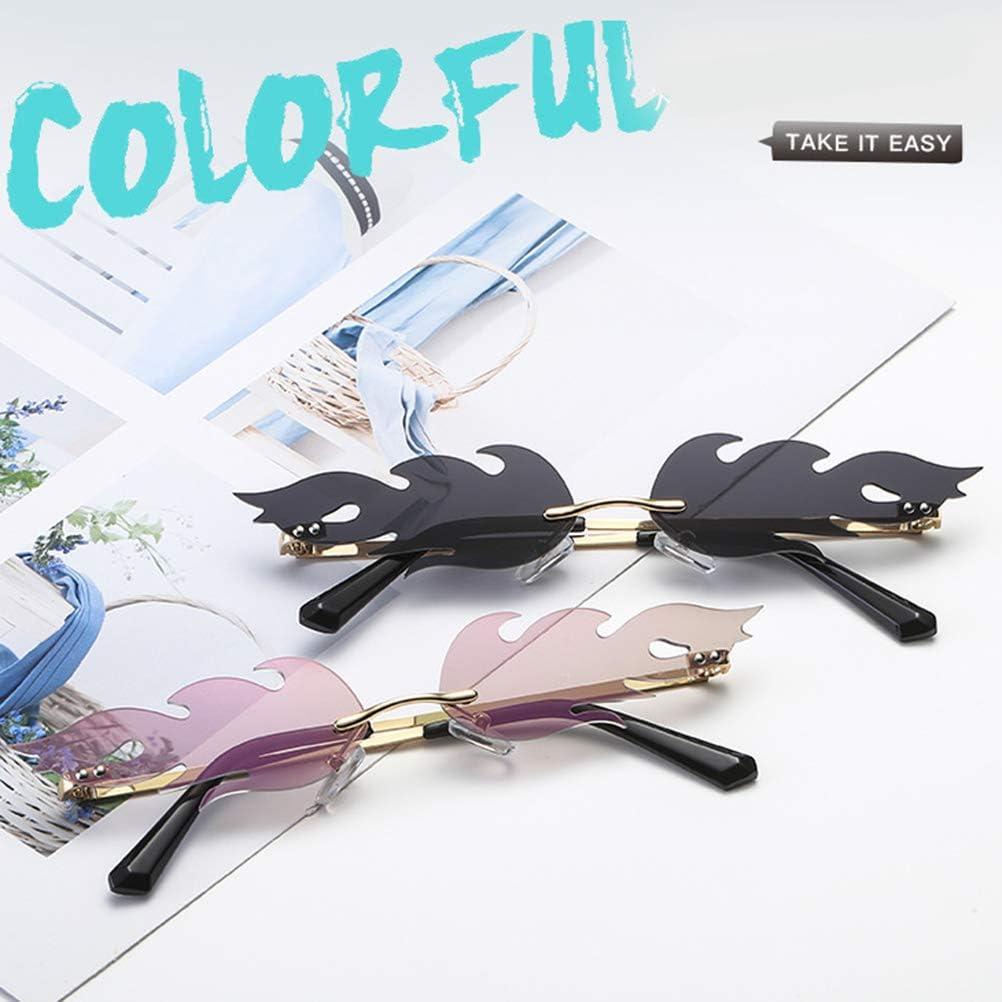 TOYANDONA Flamme Form Brillen Flamingo Sonnenbrille Punk-Stil Sunglasses Sommer Vintage Katzenaugen-Sonnenbrille Retro kleine Rahmen Damen Frauen M/ädchen Pink