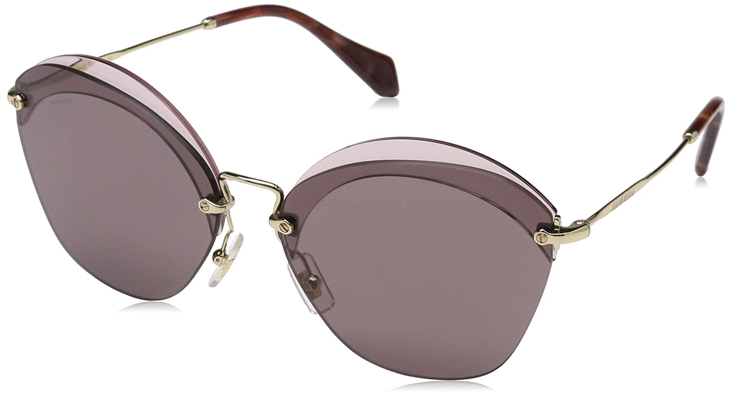 a72bc06e7b21 Miu Miu MU53SS VX36X1 Red MU53SS Oval Sunglasses Lens Category 3 Size 63mm  at Amazon Women s Clothing store