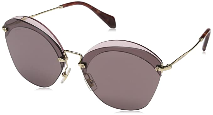 fb07faa1917c Image Unavailable. Image not available for. Color  Miu Miu MU53SS VX36X1  Red MU53SS Oval Sunglasses Lens Category 3 ...