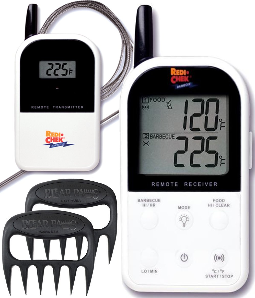 Maverick Wireless Barbecue Thermometer - White ET732 - Includes Bear Paw Meat Handlers