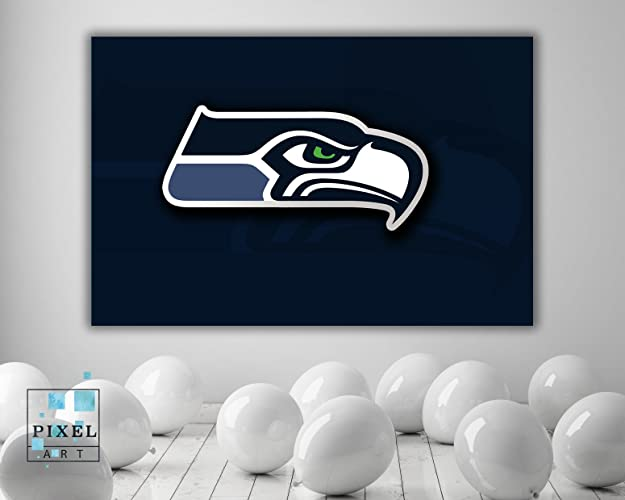 396d5841b Amazon.com  Seattle Seahawks Football NFL Sports Canvas Print Wall ...