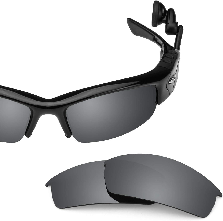 Revant Verres de Rechange pour Oakley O Rokr Pro - Compatibles avec les Lunettes de Soleil Oakley O Rokr Pro Chromé Noir Mirrorshield - Non Polarisés