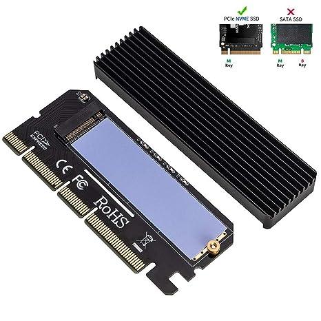 QNINE NVME Adaptador PCIe x16 con disipador de Calor, M.2 ...