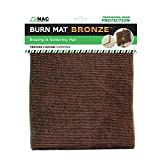 NAC INDUSTRIAL Heat, Fire & Flame Barrier, Heat Resistant Welding Blanket BURN MAT – Kelvar Fabric Heat Shield (BRONZE)