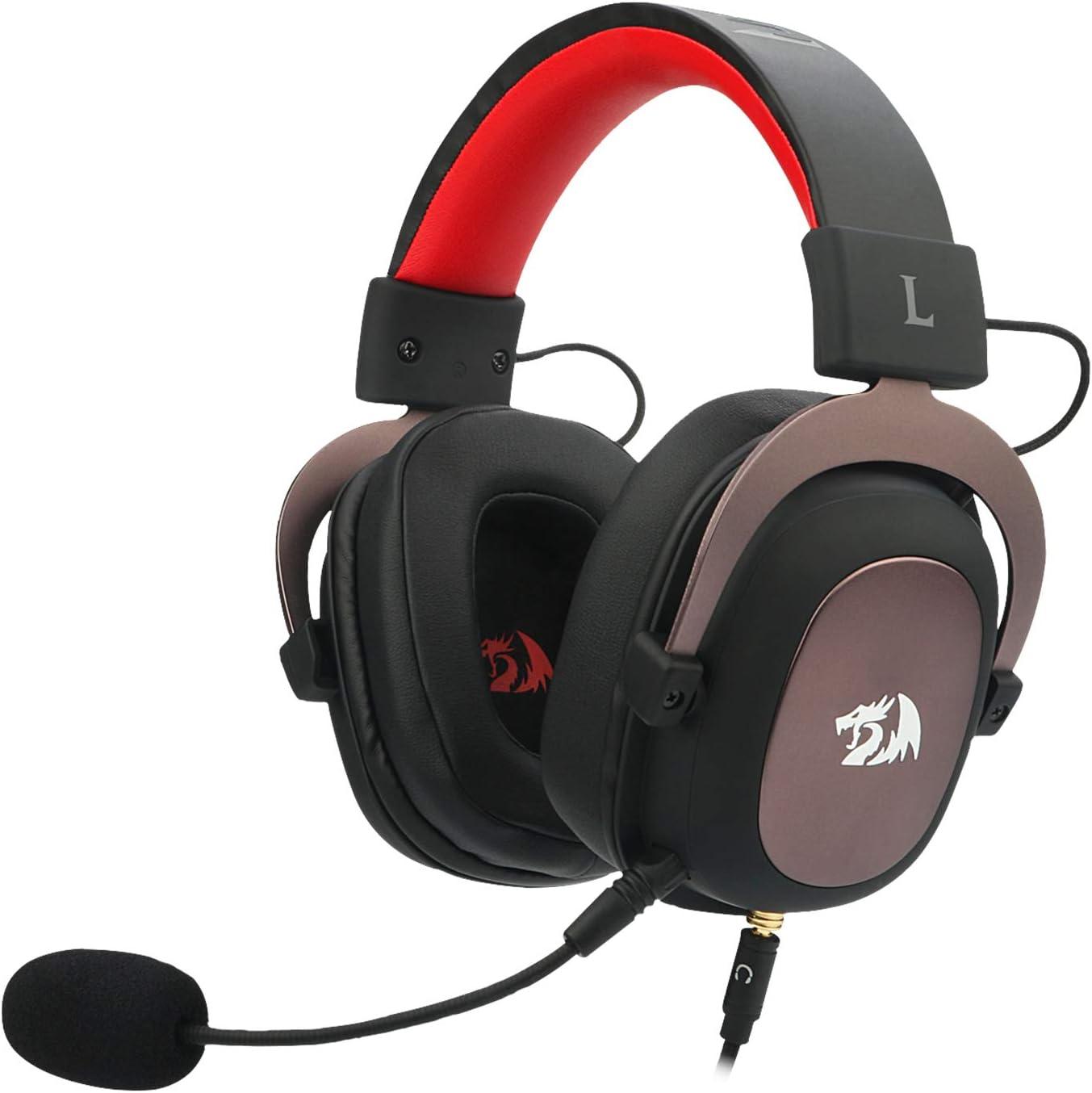 Redragon H510 Zeus 2 - Auriculares Headset cómodos para Gaming - Audio de Alta Definición + Potentes Bajos - Cascos con Micrófono para PC, Móvil, PS4 - Sonido 7.1 + Software descargable