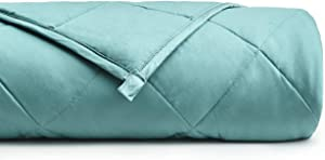 "YnM Bamboo Weighted Blanket with 100% Pure Natural Bamboo Viscose | 20lbs for 150-200 lbs individual, 60""x 80"" 