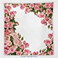 59 x 59 Inches Roses Decorations Fleece Throw Blanket Rose Bushes Frame Bridal Marry Park Summer Occasions Decorative Illustration Blanket