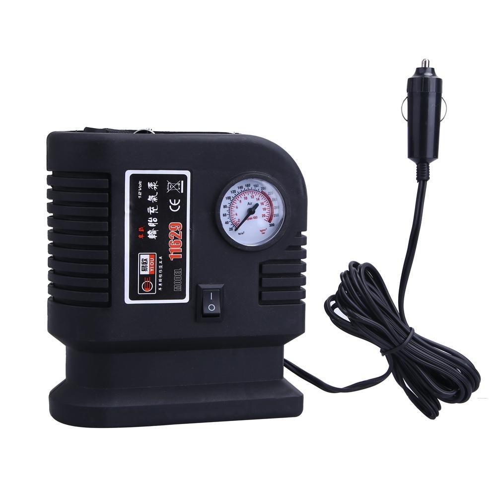 Anysell88 Air Compressor Portable Pump 300PSI Auto Car SUV Tire 12V Volt + 3 Adapter