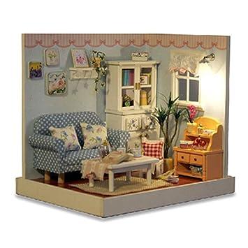 Amazing Puppenhaus   Greencolourful Handgemachte DIY Kabine Puppenhaus Miniatur  Haus Möbel Kits, Holzhaus